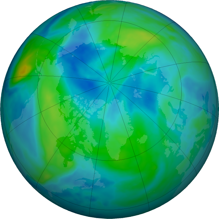 Arctic ozone map for 29 September 2020