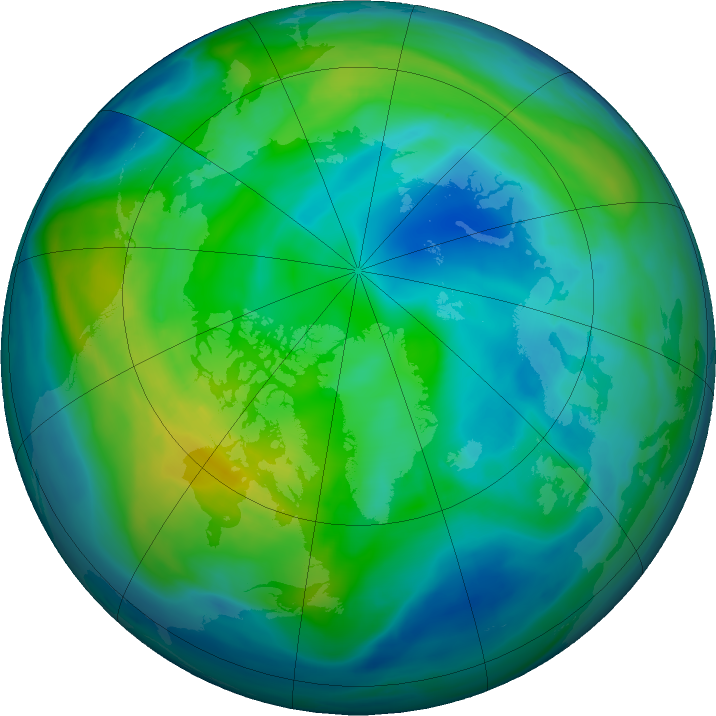 Arctic ozone map for 15 November 2020