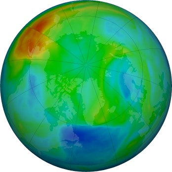 Arctic ozone map for 2020-12-02
