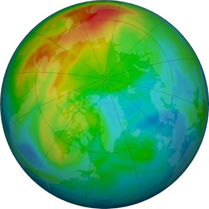 Arctic ozone map for 14 December 2020