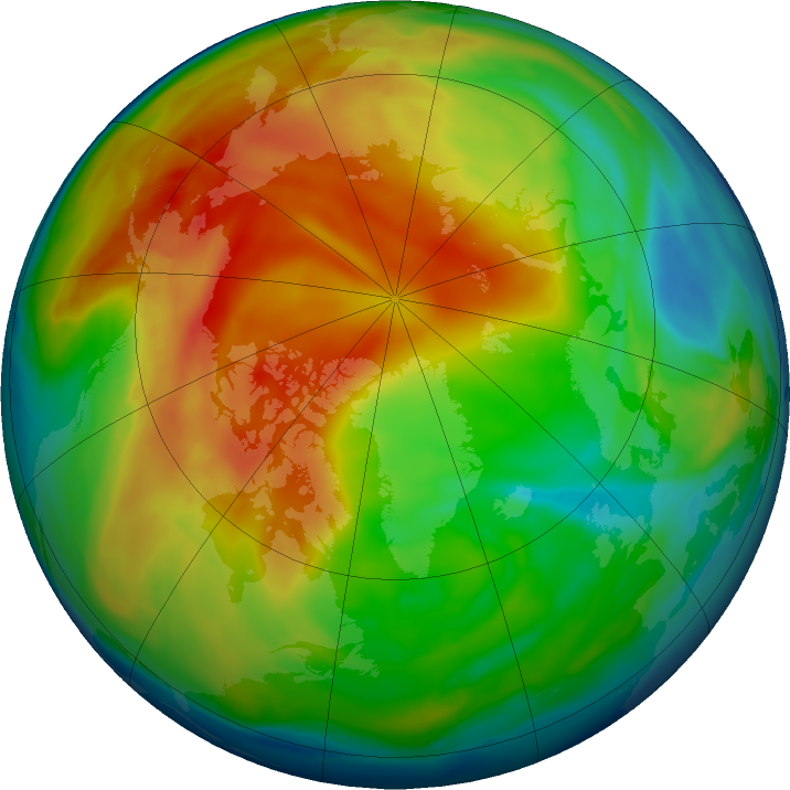 Arctic ozone map for 14 January 2021