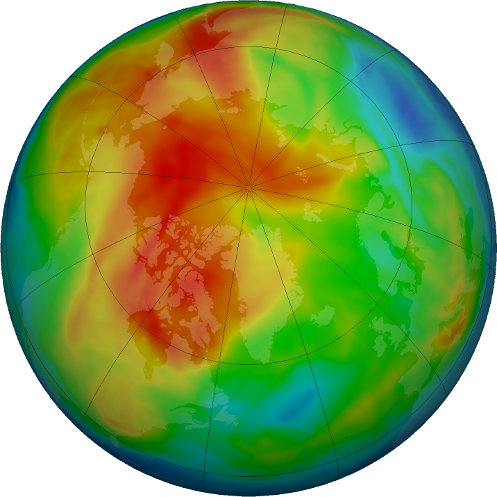 Arctic ozone map for 16 January 2021