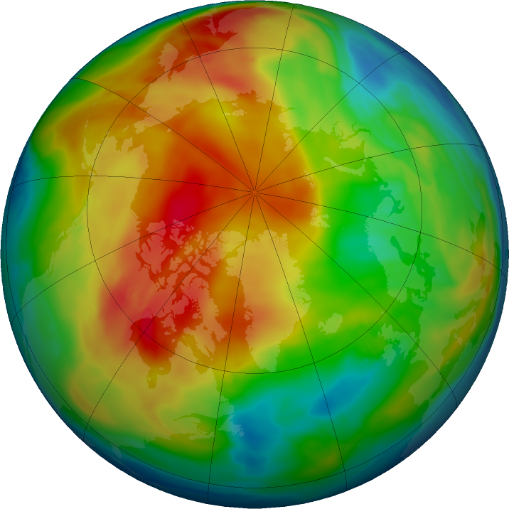 Arctic ozone map for 17 January 2021