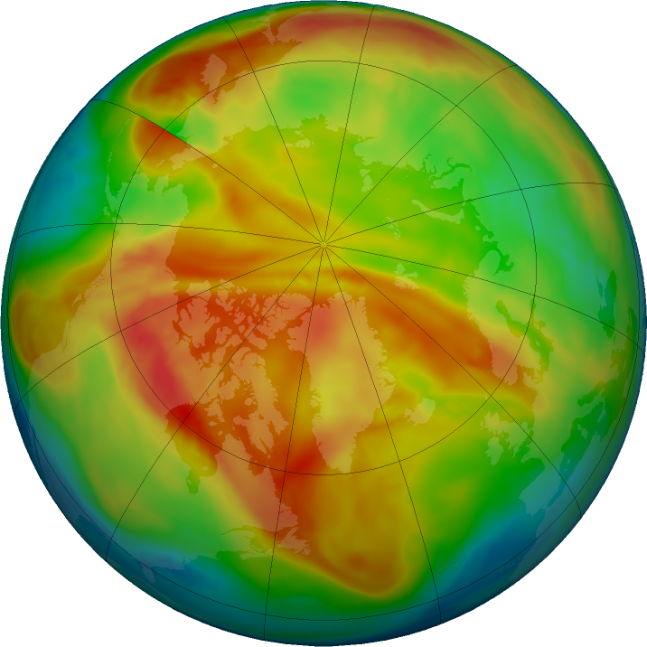 Arctic ozone map for 27 January 2021