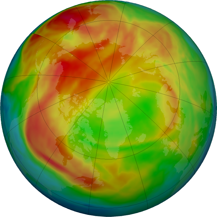 Arctic ozone map for 10 February 2021