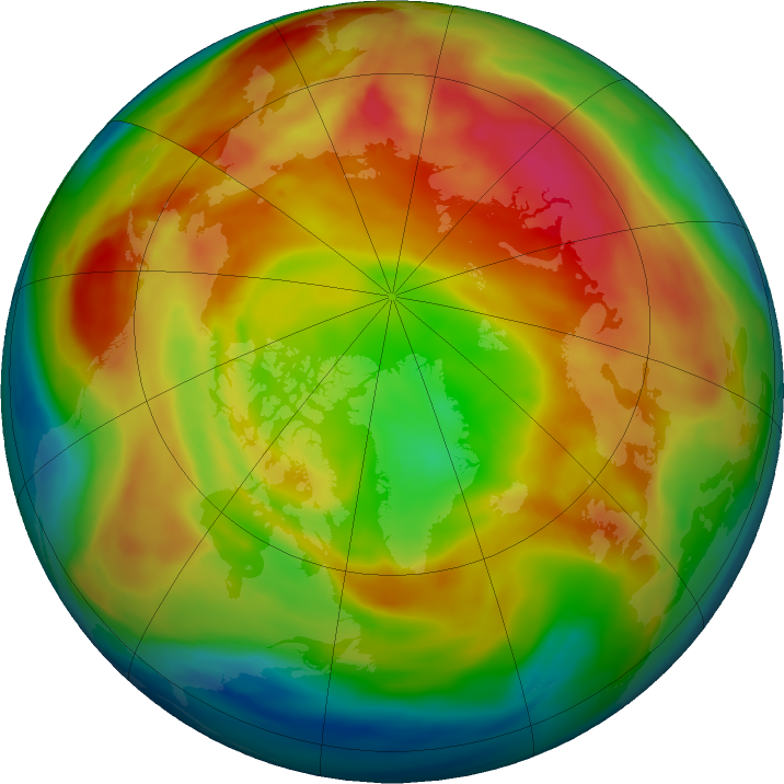 Arctic ozone map for 18 February 2021