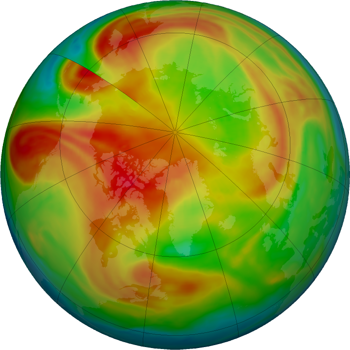 Arctic ozone map for 04 March 2021