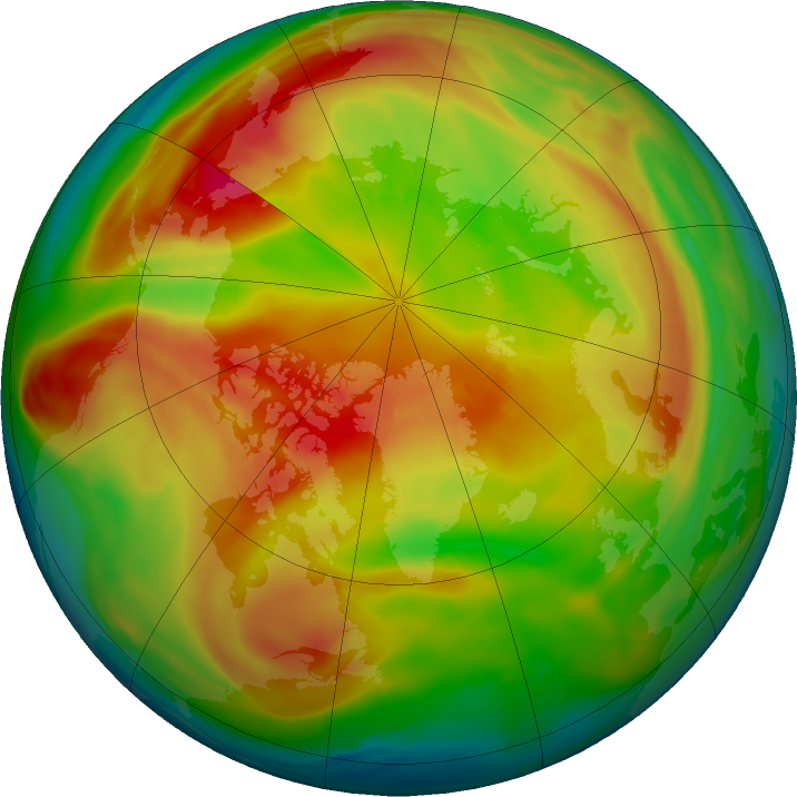 Arctic ozone map for 05 March 2021
