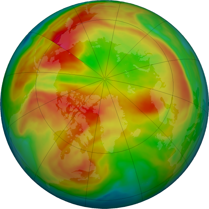 Arctic ozone map for 06 March 2021