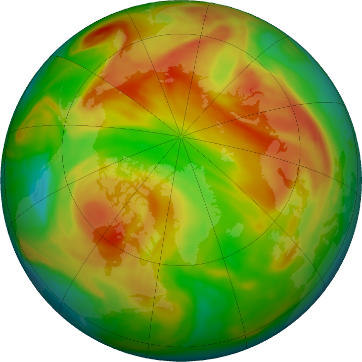 Arctic ozone map for 28 April 2021