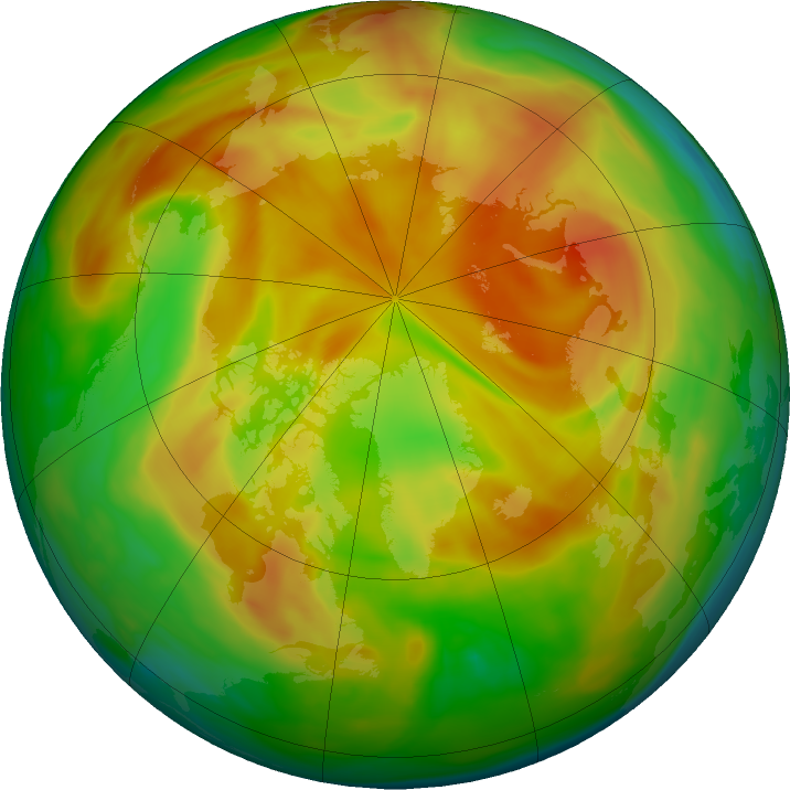 Arctic ozone map for 02 May 2021