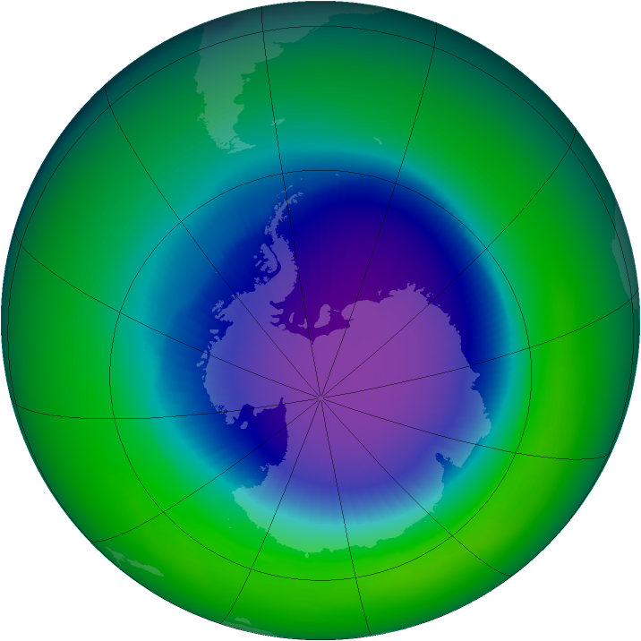 1994-October monthly mean Antarctic ozone