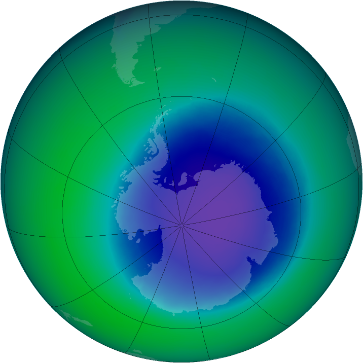 2006-November monthly mean Antarctic ozone