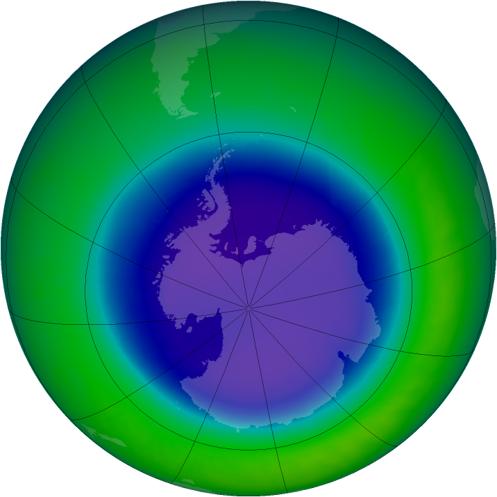 2009-September monthly mean Antarctic ozone
