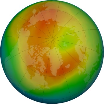 Arctic ozone map for 01