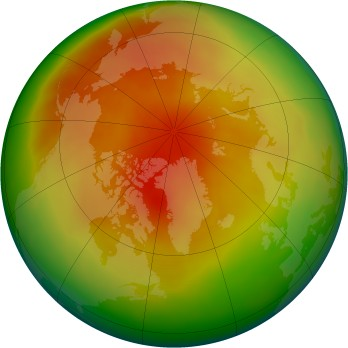 Arctic ozone map for 04