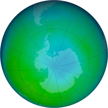 Antarctic ozone map for 05