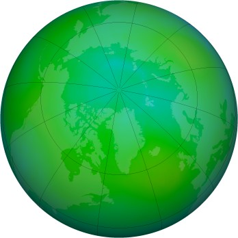 Arctic ozone map for 08