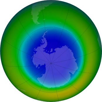 Antarctic ozone map for 09