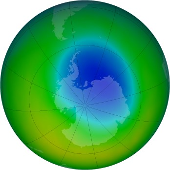 Antarctic ozone map for 11