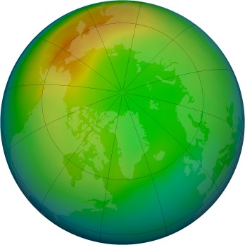 Arctic ozone map for 12