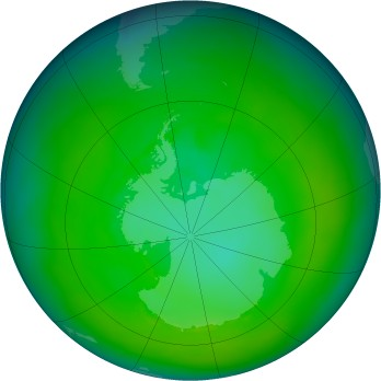 Antarctic ozone map for 1979-01