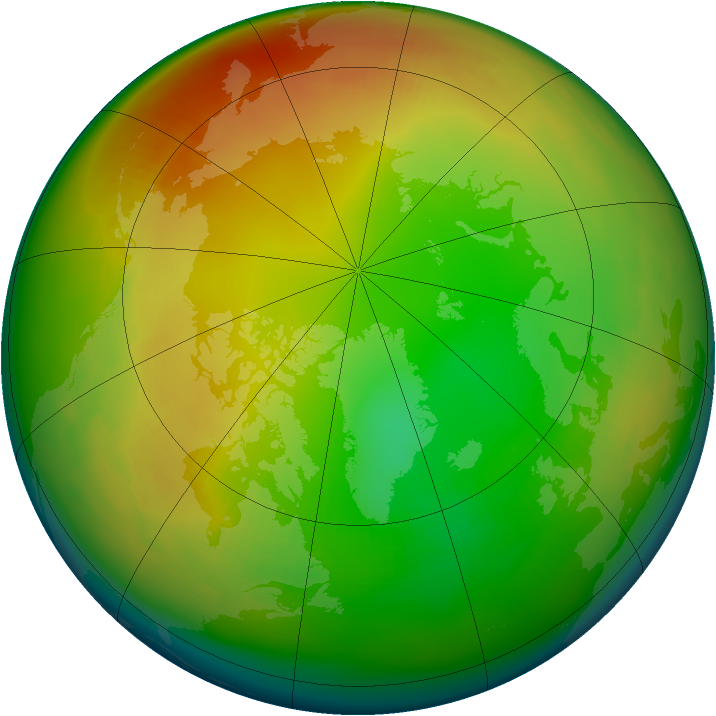 Arctic ozone map for January 1979