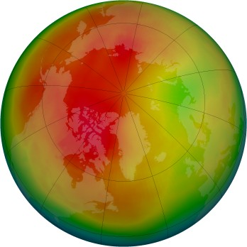 Arctic ozone map for 1979-02