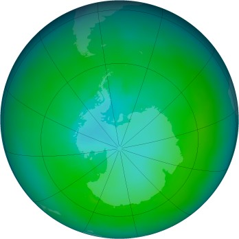 Antarctic ozone map for 1979-02