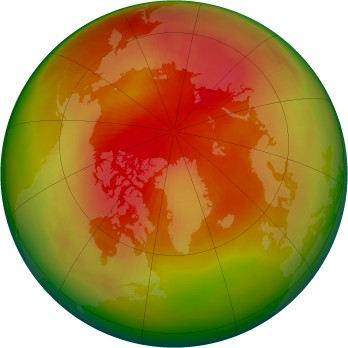 Arctic ozone map for 1979-03