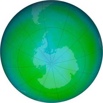 Antarctic ozone map for 1979-03