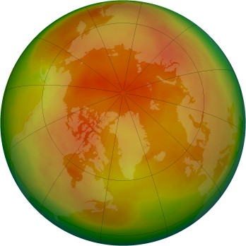 Arctic ozone map for 1979-04