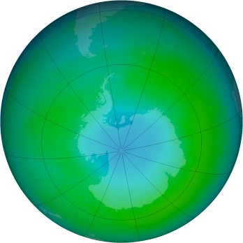 Antarctic ozone map for 1979-04