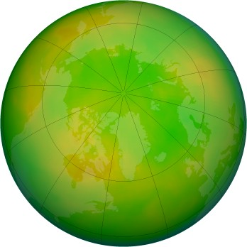 Arctic ozone map for 1979-06