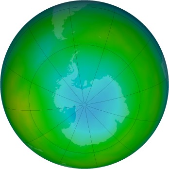 Antarctic ozone map for 1979-06