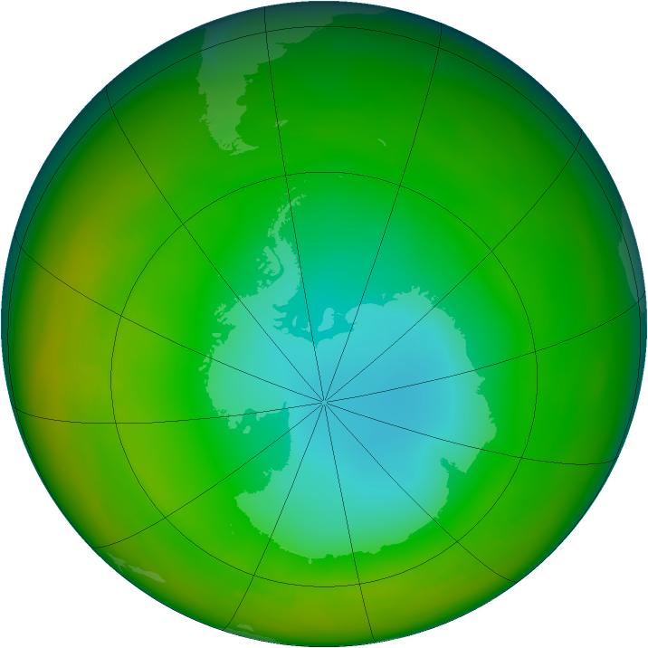 Antarctic ozone map for July 1979