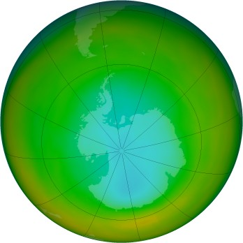Antarctic ozone map for 1979-08