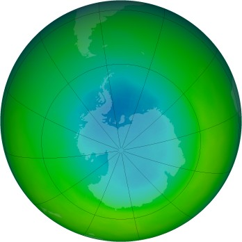 September 1979 monthly mean Antarctic ozone