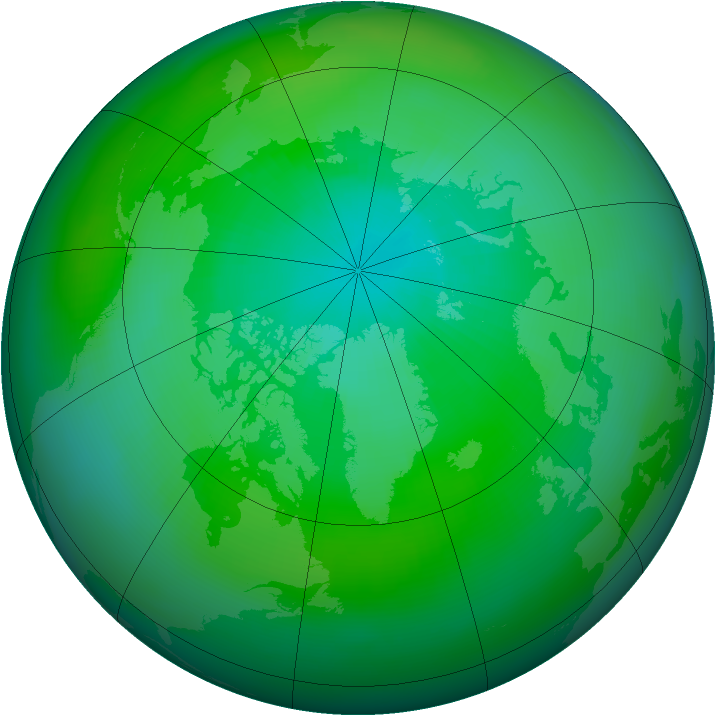 Arctic ozone map for September 1979