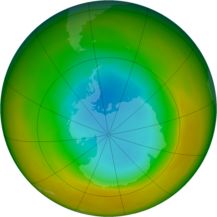 Antarctic ozone map for September 1979