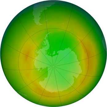 Antarctic ozone map for 1979-11