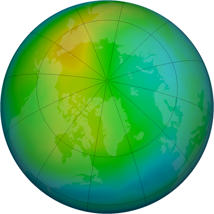 Arctic ozone map for November 1979