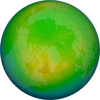 Arctic ozone map for 1979-12