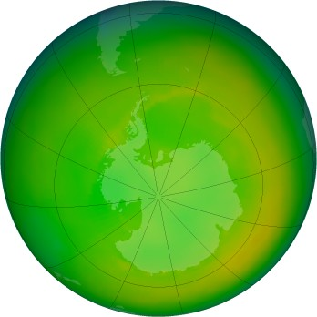 Antarctic ozone map for 1979-12