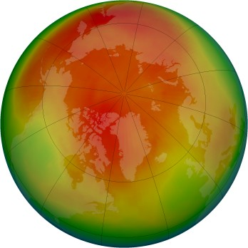 Arctic ozone map for 1980-04