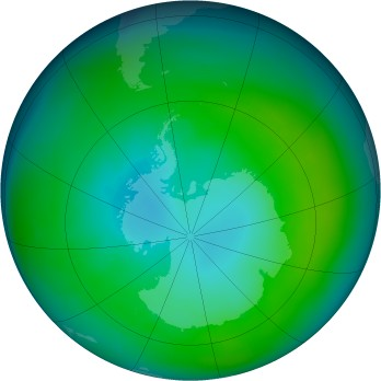 Antarctic ozone map for 1980-04