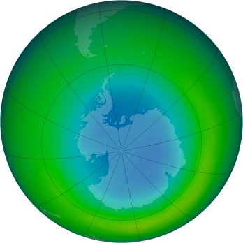 September 1980 monthly mean Antarctic ozone