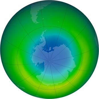 October 1980 monthly mean Antarctic ozone
