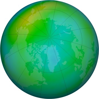 Arctic ozone map for 1980-10