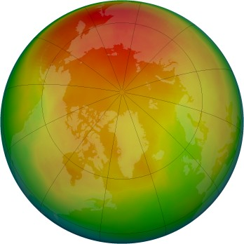 Arctic ozone map for 1981-02
